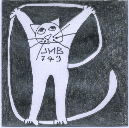 chat-dessin crayon 9x9cm-2009-04-07