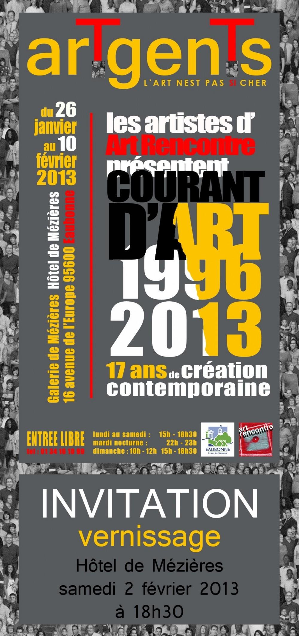 Invitation Exposition arTgenTs